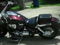 Honda vtx 1800n for sale. Only 8,300 miles. Maroon in