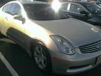 Look at this 2006 Infiniti G35 Coupe . It has a