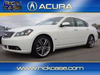 This White, 2006 INFINITI M45 is priced right and has