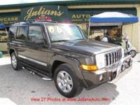 2006 JEEP COMMANDER LIMITED, NEWER TIRES, LEATHER, WELL