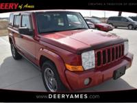 Red 2006 Jeep Commander Sport 4WD 5-Speed Automatic