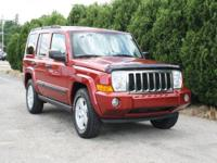 Clean CARFAX History! 4x4 Commander with Power Sunroof,