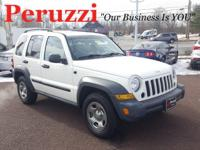 Clean CARFAX. White 2006 Jeep Liberty Sport 4WD 6-Speed