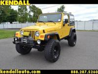 This is the 2006 Jeep Wrangler Rubicon. It has a lift