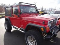 - - WRANGLER UNLIMITED 4X4 WITH LIFT AND WARRANTY!!