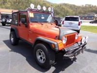 Impact Orange Clearcoat/Black Soft Top 2006 Jeep