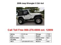 2006 Jeep Wrangler Unlimited 2dr 4x4 LWB SUV 2 Doors