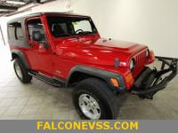 Clean CARFAX. Red 2006 Jeep Wrangler Unlimited 4WD