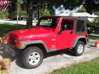 Well-maintained Jeep Wrangler X with 4WD. Features