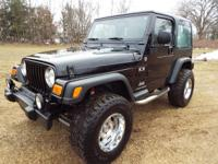 Obviously this is a BEEFY Jeep Wrangler X package 4x4!