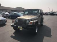 Hard Top and Soft Top, Wrangler X, PowerTech 4.0L I6,