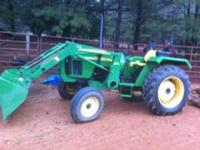 2006 John Deere Tractor 5130 w/ front loader! It has