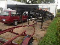 Im selling my Kaufman 3 car hauler with the gooseneck