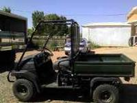 I have a 2006 Kawasaki mule 4x4 for sale. It runs great