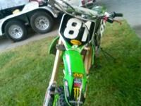 2006 Kawasaki Super motocross dirt bike. Runs fantastic