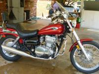 Moving, must sell. Very clean Candy Apple Red Kawasaki