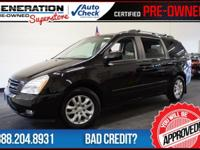 4D Passenger Van and Black. Front dual zone A/C and