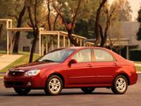 Recent Arrival! Radiant Red 2006 Kia Spectra FWD 2.0L