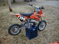 2006 KTM Pro Senior 50 SX: Has brand-new clutch and