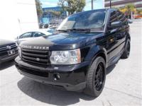 HERE IS A SHARP 2006 LAND ROVER RANGE ROVER, BLACK OVER