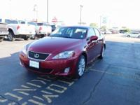 New Price! Matador Red Mica 2006 Lexus IS 250 AWD