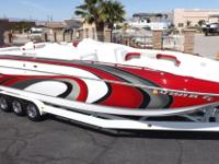 This High Performance 2006 Magic Deck Boat was featured