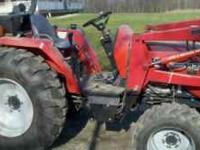 40 hp. very low hours 1466 front loader garage kept