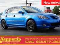 Clean CARFAX. This 2006 Mazda Mazda3 s in Winning Blue