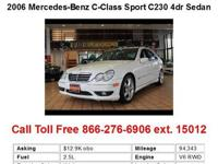 2006 Mercedes-Benz C-Class Sport C230 4dr Sedan Sedan 4
