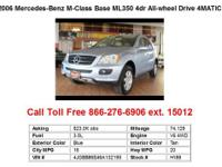 2006 Mercedes-Benz M-Class Base ML350 4dr All-wheel