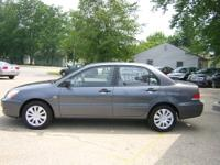 Clean Dark Grey 2006 Mitsubishi Lancer ES 4dr sedan-2.0
