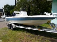 2006 Nautic Star 1900 with a Mercury 150 HP Optimax.
