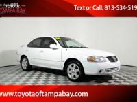 Options:  2006 Nissan Sentra 1.8 S|White|You'll Never
