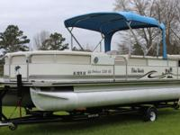 2006 PALM BEACH DELUXE 220 SE PONTOON BOAT 60HP MERCURY