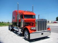 PET 379.DROP VISOR PAINTED TO MATCH THE TRUCK, CAB &