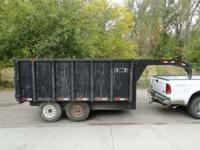 2006 R&W Gooseneck dump trailer 12x7 with 4 ft sides,