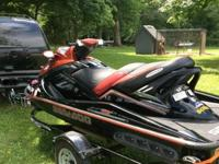 2006 Red Black Sea.Doo RXT supercharged with Riva
