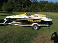 For sale is a 15 foot 2006 SEADOO sportster with a 215