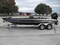 Clean 2006 Stratos 201 Pro XL bass boat. It has a