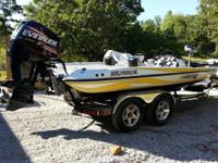 2006 Stratos Pro XL 201 has Evinrude 225 HO with 87
