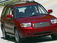 Clean CARFAX. RED 2006 Subaru Forester 2.5X AWD 2.5L