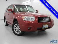 Forester 2.5X Premium, 5-Speed Manual, AWD, Garnet Red