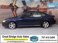 2006 Subaru Legacy CARS HAVE A 150 POINT INSP, OIL