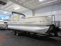2006 SUN TRACKER 22 PARTY BARGE WITH 135 HP AND TANDEM