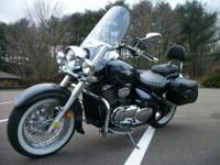 This Suzuki Boulevard is a shaft drive, it has a CB