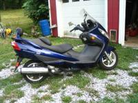 Suzuki Burgman 400cc Interstate Scooter. 60 miles per