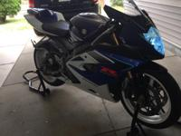 I am selling my 2006 SUZUKI GSXR 1000 with 11,000