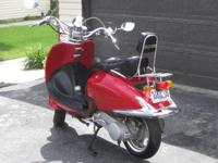 Very Clean Candy Red 125cc Scooter.  Come take it