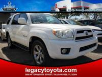 Clean CARFAX. 4WD, Leather. 2006 Toyota 4Runner Limited