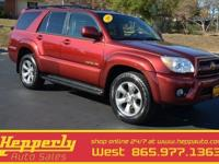 4x4, 2006 Toyota 4Runner Limited!, Navigation, Sunroof,